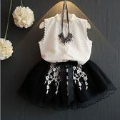 套裝 韓板 蕾絲公主風 小大人款 不刺內裡 上衣不透膚  無袖上衣+短群 單款 寶貝童衣