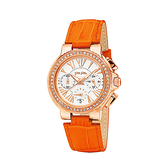 【Folli Follie】Watchalicious羅馬晶鑽計時腕錶-亮眼橘(小)/WF13B001SES_OR/台灣總代理公司貨兩年保固