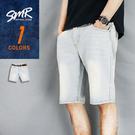 短褲-復古淺刷痕牛仔短褲-復古淺牛仔《9990335》淺藍色【現貨+預購】『RFD』