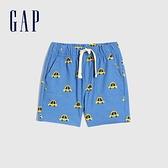 Gap嬰兒 童趣抽繩裝飾休閒短褲 820153-藍色