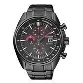 星辰CITIZEN 光動能黑鋼三眼計時腕錶CA0595-54E公司貨 全球1年保固