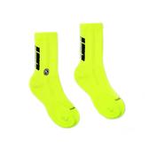 H2O LAB 螢光世代 螢光綠 黑LOGO 中高筒襪 男女 19FW01YL