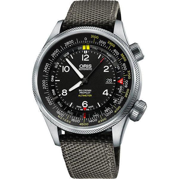 ORIS 豪利時 ProPliot Altimeter高度儀飛行錶-47mm 0173377054164-0752317FC