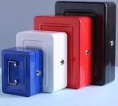 帶鎖收納盒密碼盒小鐵盒子儲物箱手提迷你