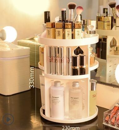旋轉桌面化妝品收納盒
