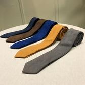 鹿三先生正裝商務時尚休閒發型師咖啡色領帶英倫青年男士領帶潮