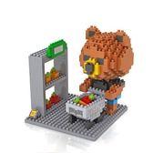 UNICO-LIFE  鑽石積木/迷你積木/益智遊戲-布朗熊系列 購物