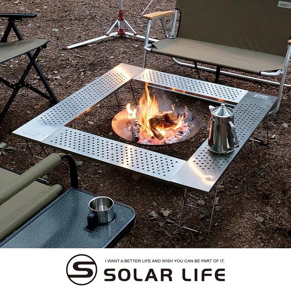 Coleman 圍爐桌/CM-0397J.輕量不鏽鋼桌 戶外烤肉桌 焚火台邊桌 燒烤摺疊桌 露營圍桌子