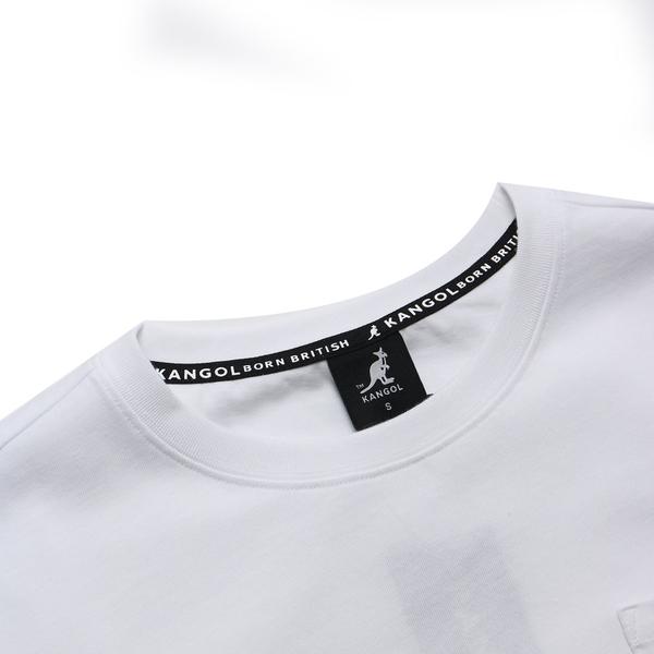 KANGOL 短袖 短T 白 左胸口袋 英文小標 棉 休閒 男 (布魯克林) 6021102500