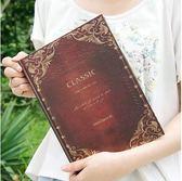 韓國文具懷舊創意歐式復古日記本子商務筆記本加厚記事本本