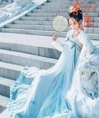 漢服女改良齊胸襦裙日常漢服中國風古裝仙女裙飄逸【奈良優品】