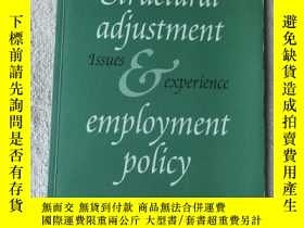二手書博民逛書店Structural罕見Adjustment & Employm