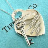 【奢華時尚】Tiffany Return To Tiffany 925純銀愛心鑰匙墜飾項鍊#11418
