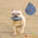 狗狗牛皮飛盤玩具寵物飛碟耐咬磨牙互動訓練解悶【小獅子】