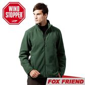 【FOX FRIEND 男 WINDSTOPPER刷毛外套《綠色》】751/保暖外套/防風外套