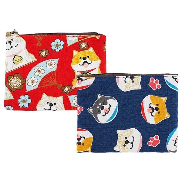 柴犬輕巧三層零錢包(1入)【小三美日】款式隨機出貨