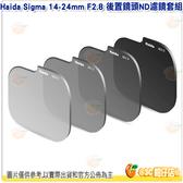 Haida HD4567 Sigma 14-24mm F2.8 後置鏡頭ND濾鏡套組 ND0.9+1.2+1.8+3.0