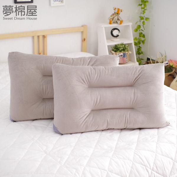 枕頭 可水洗彈性枕-灰 快乾滴水網布設計 台灣製造 / 夢棉屋-二入組