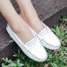 懶人鞋.基本款舒適軟皮豆豆鞋.白鳥麗子