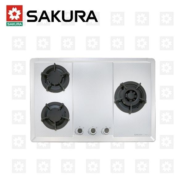 櫻花牌 SAKURA 三口大面板易清檯面爐 G-2633S 限北北基安裝配送 (不含林口 三峽 鶯歌)