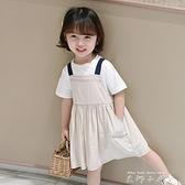 女童洋裝夏裝2020新款洋氣兒童裙子小童吊帶裙寶寶公主裙吊帶裙 米娜小鋪