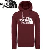 【The North Face 男 LOGO連帽衫《暗紅》】3M4E/連帽保暖上衣/大學T/連帽長袖