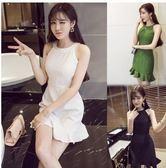 現貨不退換綠L無袖洋裝禮服宴會裙27771