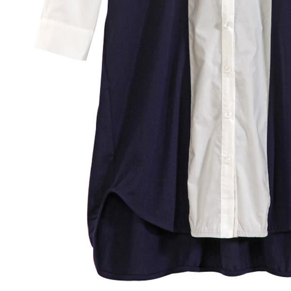 【MASTINA】雙色簡約洋裝-藍 0530