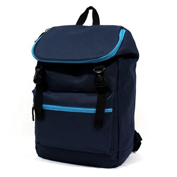 電腦包 日系極簡防水尼龍撞色拉鍊口袋男包女包後背包包 NEW STAR BK197