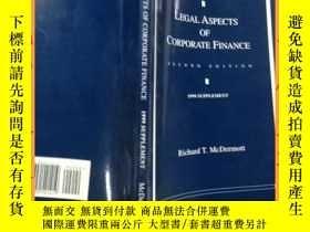 二手書博民逛書店英文書legal罕見aspects of corporate finance 公司融資的法律問題Y16354