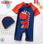 兒童泳衣兒童泳衣男童中大童連體防曬游泳衣寶寶男孩嬰幼兒1-3-6游泳裝備 嬡孕哺
