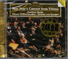 停看聽音響唱片】【CD】NEW YEAR'S CONCERT FROM VIENNA BATTLE/WIENNER PHILHARMONIKER/KARAJAN(日本製(24K金碟)