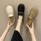 豆豆鞋女外穿2021年新款春秋夏季一腳蹬瓢鞋軟底奶奶百搭平底單鞋 韓國時尚週