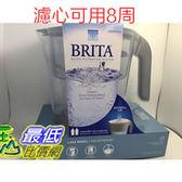(耶誕節限量搶購活動) 2018 新款白色 Brita Lake 濾水壺含長效圓形濾心1顆10杯濾水壺(濾心可用8周)