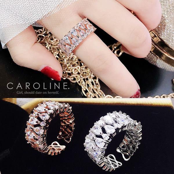 《Caroline》★韓國熱賣造型時尚   Bling  Bling 絢麗閃亮動人戒指71290