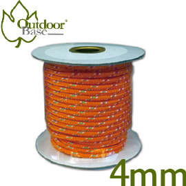 【Outdoorbase  4mm營繩 螢光 不挑色】28415/螢光營繩