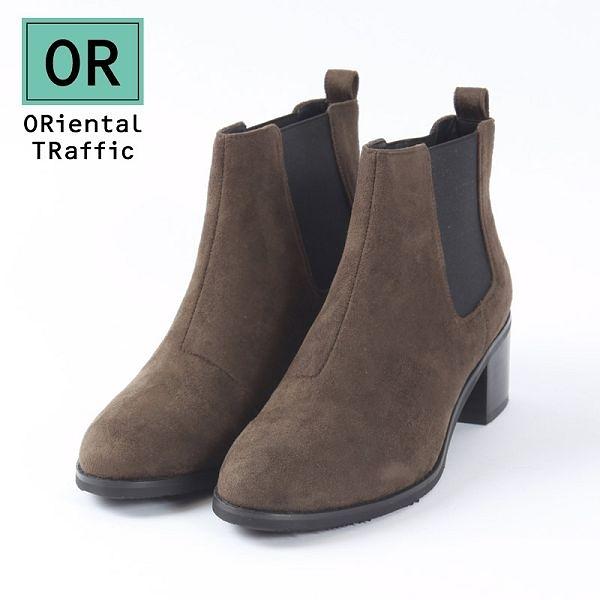 【ORiental TRaffic】簡約素面側鬆緊帶短靴-率性軍綠