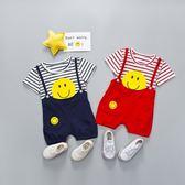 嬰兒短袖套裝 短袖上衣 +吊帶褲 寶寶童裝 YN12302 好娃娃