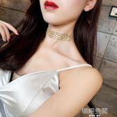 歐美金色性感隱形頸鍊chocker鎖骨鍊女脖子飾品頸帶韓國短款項鍊
