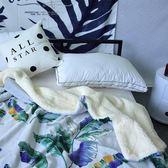 北歐珊瑚絨羊羔絨毛毯雙層加厚毯子秋冬季保暖法蘭絨蓋毯