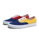 VANS 休閒鞋 AUTHENTIC 藍紅黃 拼接 撞色 滑板鞋 男 (布魯克林) VN0A2Z5IWNY