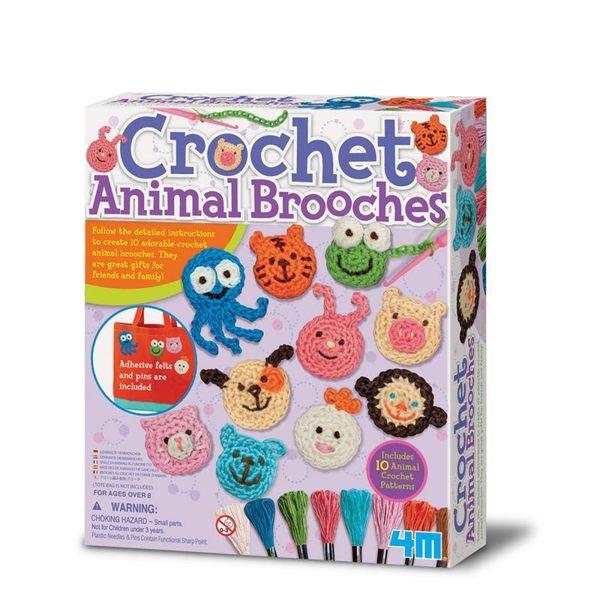 【4M】美勞創作系列 - 微笑小動物胸針 Crochet Animal Brooches 00-04669