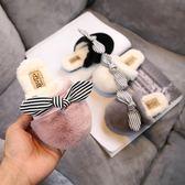 新年大促 兒童棉拖鞋冬女可愛防滑兔耳朵寶寶保暖毛毛拖鞋冬季女童棉拖室內