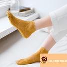 4雙 日系薄款蕾絲襪子女短襪淺口花邊棉底硅膠防滑【小獅子】