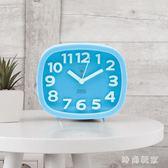 鬧鐘 創意靜音床頭的鐘簡約時尚個性時鐘 ZB1141『時尚玩家』