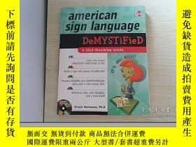 二手書博民逛書店american罕見sign language DeMYSTIF
