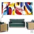 【優樂】無框畫裝飾畫客廳走廊書房裝飾無框壁畫沙發背景三聯畫藝術羽毛