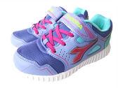 『雙惠鞋櫃』◆DIADORA迪亞多那◆中童款 透氣  輕量 耐磨  酷炫燈運動慢跑鞋◆(DA3987) 紫