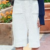 棉質長裙-歐風純色性感針織女裙子2色73hv38[時尚巴黎]