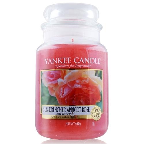 YANKEE CANDLE 香氛蠟燭-陽光下的杏色玫瑰 623g